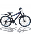 26 ZOLL MOUNTAINBIKE FAHRRAD MIT GABELFEDERUNG & BELEUCHTUNG 21-GANG SHIMANO FASTER BBO